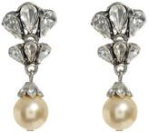Ben-Amun Crystal Cluster Pearl Drop Earrings
