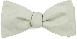Tie Bar Linen Row Sage Green Bow Tie