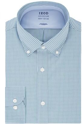 Izod Men's Advantage Performance Slim-Fit Button-Down Collar Wrinkle-Free Dress Shirt
