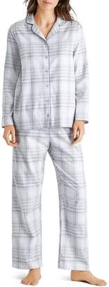 Hanro Edda Plaid Cotton Flannel Pajama Set