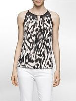 Calvin Klein Womens Tiger Stripe Halter Top