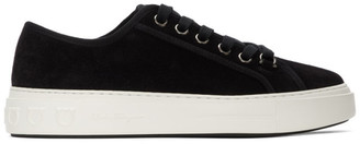 Salvatore Ferragamo Black Suede Anson Sneakers