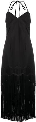 PASKAL clothes Fringed Sleeveless Midi Dress
