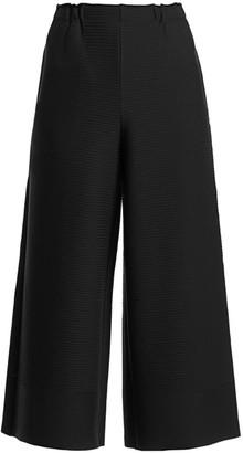 Issey Miyake Random Ripple Wide-Leg Pants