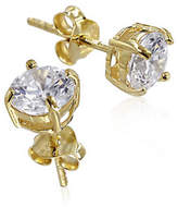 Expression Sterling Silver Cubic Zirconia and Goldtone Medium Studs