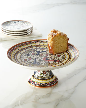 """Pavoes"" Cake Stand & Appetizer Plates"