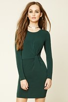 Forever 21 FOREVER 21+ Knotted-Front Bodycon Dress