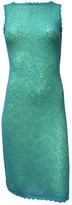 Christian Lacroix Turquoise Wool Dress for Women Vintage