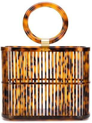 Cult Gaia Coco mini round top handle basket bag