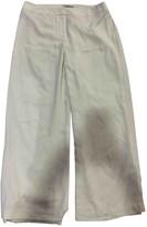 Hobbs White Linen Trousers for Women