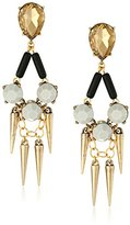 David Aubrey Francesca Large Crystal and Spike Post Statement Earrings