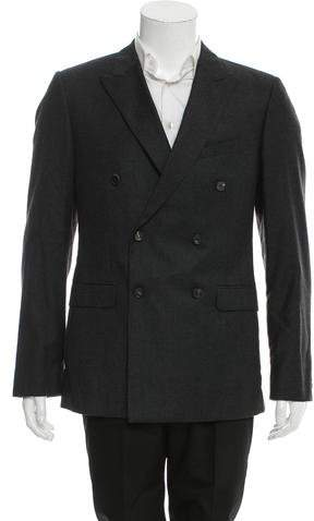 Calvin Klein Collection Double-Breasted Wool Blazer w/ Tags