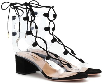 Aquazzura Milos 50 PVC sandals