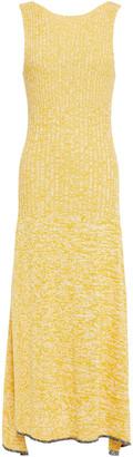 Joseph Open-back Melange Ribbed-knit Midi Dress
