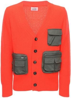 Acrylic Blend Knit Cardigan W/3d Pockets