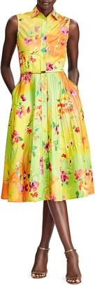Ralph Lauren Collection Darcy Sleeveless Floral-Print Shirtdress