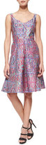 Nanette Lepore Machu Picchu Sleeveless V-Neck Printed Midi Dress