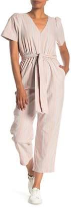 Madewell Puff Sleeve Tapered Jumpsuit
