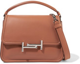 Tod's Double T Leather Shoulder Bag - Tan