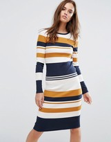 Selected Bodycon Stripe Dress