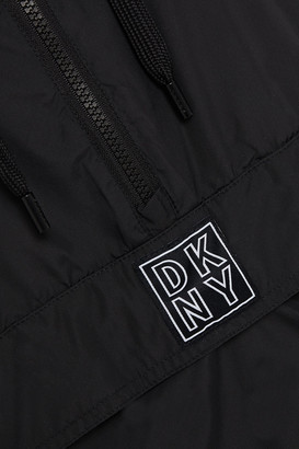 DKNY Appliqued Shell Hooded Jacket
