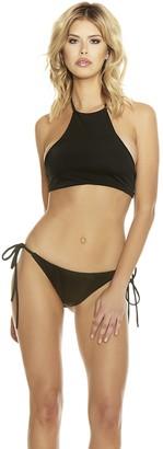 Forplay Women's Bonaire High Collar Sporty Halter Bikini