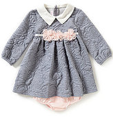 Bonnie Jean Bonnie Baby Baby Girls 12-24 Months Knit-Quilt Jacquard Dress