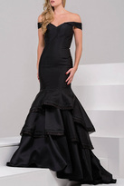 Jovani Off Shoulder Mermaid Dress in Black 31100B