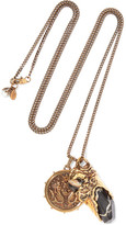 Alexander McQueen Gold-plated Stone Necklace - one size