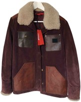 Tommy Hilfiger Burgundy Leather Leather Jacket for Women