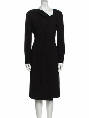 Oscar de la Renta 2009 Midi Length Dress Wool