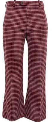 Chloé Checked Wool-blend Tweed Bootcut Pants
