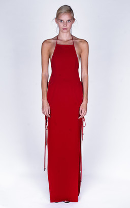 Monot Backless Crepe Maxi Dress
