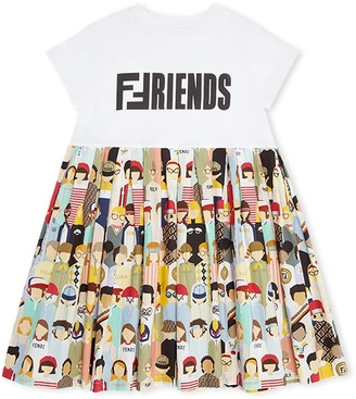 Fendi Friends Motif Dress