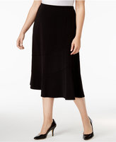 Alfred Dunner Plus Size Saratoga Collection Knit Midi Skirt