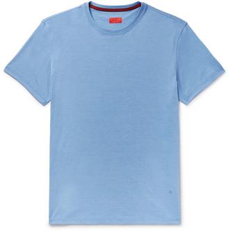 Isaia Melange Silk And Cotton-Blend Jersey T-Shirt