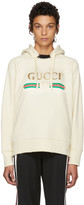 Gucci White Oversized Vintage 'Blind For Love' Hoodie
