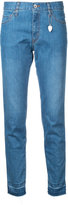 Muveil frayed hem cropped skinny jeans - women - Cotton/Polyester - 38