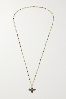 Sylva & Cie 18-karat Gold And Sterling Silver Multi-stone Necklace