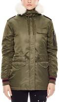 Sandro Vitalic Faux Fur-Trimmed Coat