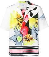 MSGM floral print short sleeve shirt