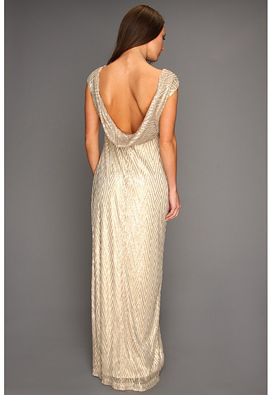 Jessica Simpson Short Sleeve Gown w/ Cowl Back