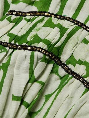 Busayo Adun Ruffled Highenck Beaded Dress