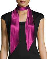 Rockins Super Skinny Satin Scarf, Dark Purple