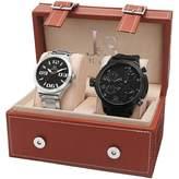 Joshua & Sons Men's Analog Display Swiss Quartz and Silver Watch Set