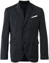 Neil Barrett pocket square blazer - men - Cotton/Polyester/Spandex/Elastane/Viscose - 50