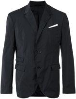 Neil Barrett pocket square blazer - men - Polyester/Spandex/Elastane/Viscose/Cotton - 50