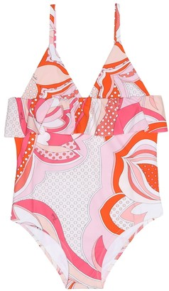 Emilio Pucci Kids Printed one-piece swimsuit