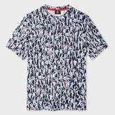 Paul Smith Men's Navy And White 'Dancing' Print T-Shirt