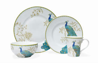222 Fifth Peacock Garden 16 Pc Dinnerware Set